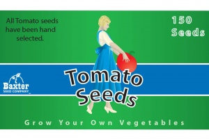Tomato Seeds Package Label Design Image